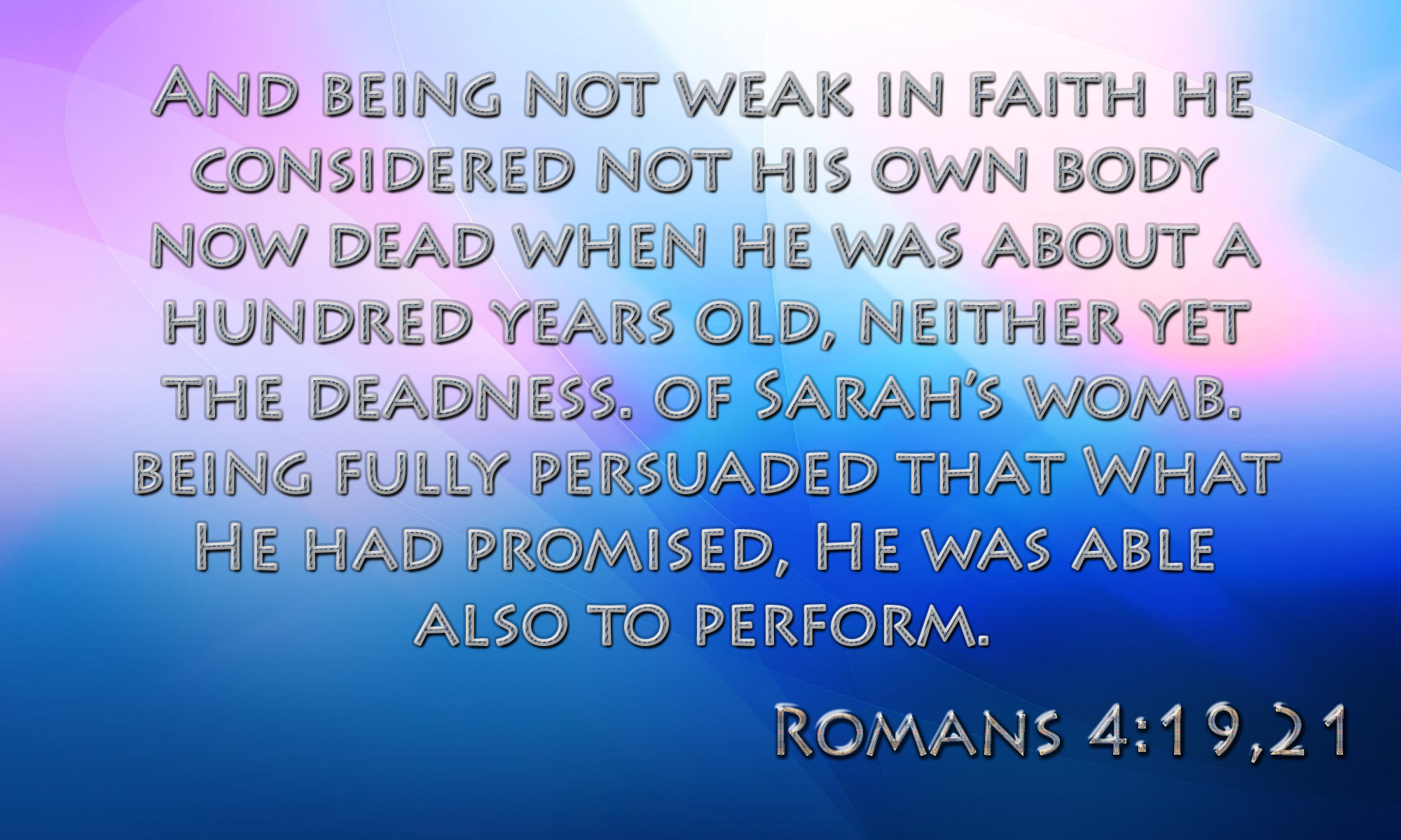 God is Able to Perform His Promises